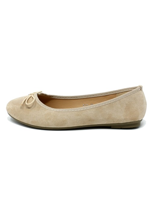Shoe Lounge Beige Ballerina Pumps
