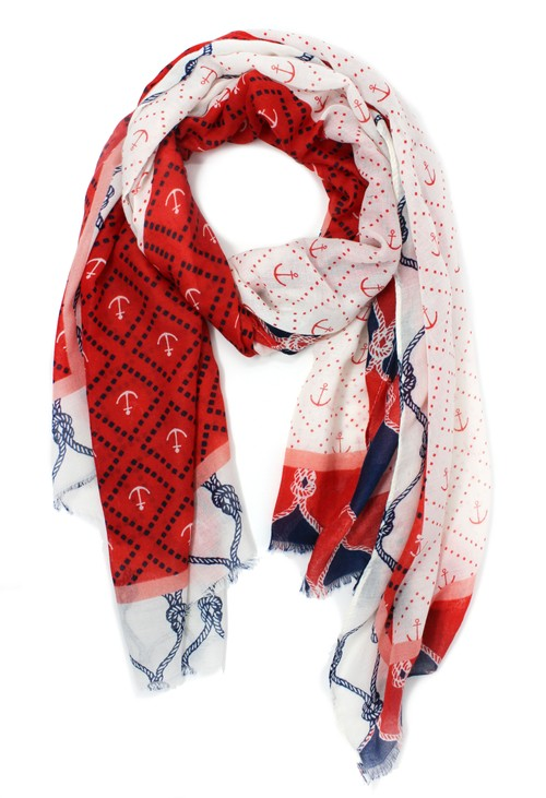 PS Accessories Marine Print Scarf
