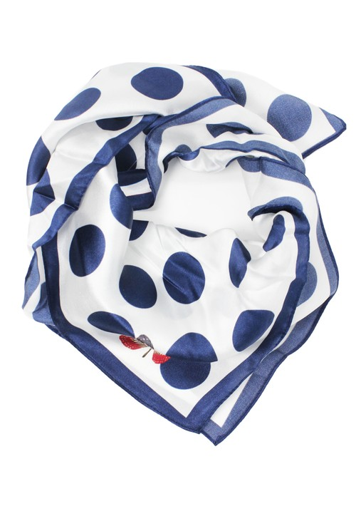 Pamela Scott polka dot silk scarf