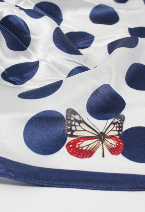 PS Accessories polka dot silk scarf