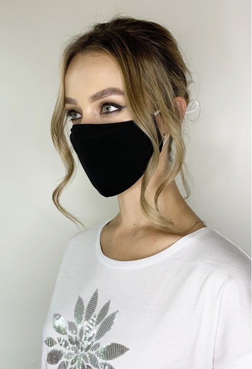 Lys Black Antimicrobial 3 Pack Neoprene Face Covering