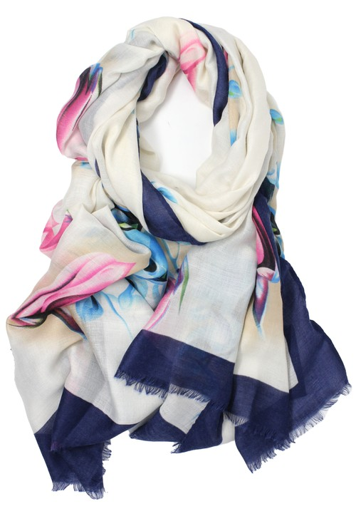 PS Accessories Floral Scarf