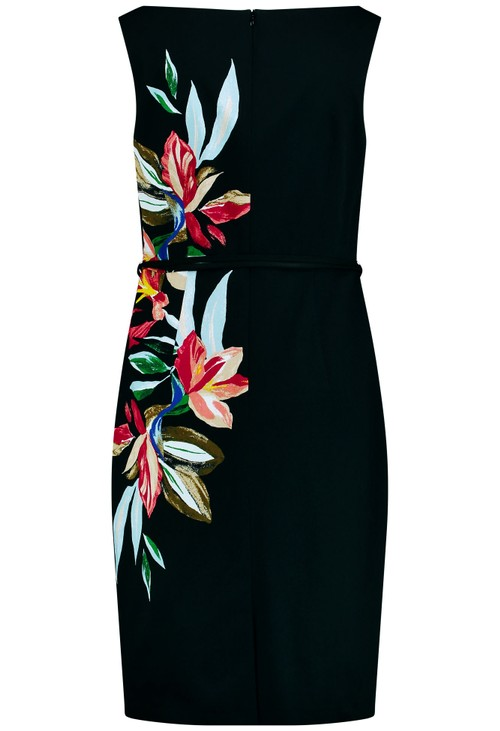 Gerry Weber Black Dress with flower tendrils