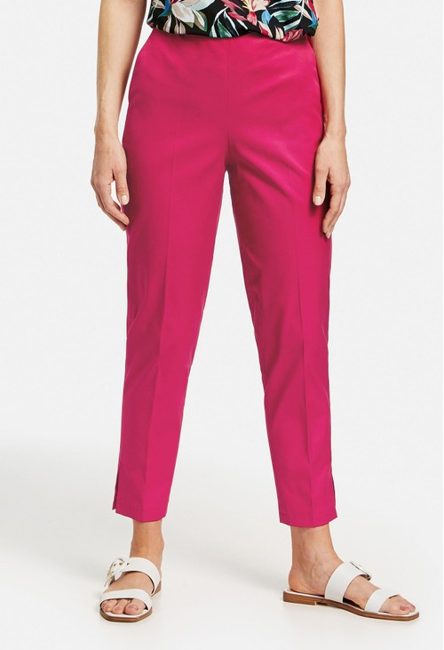 Gerry Weber Pink 7/8-length stretch cotton trousers