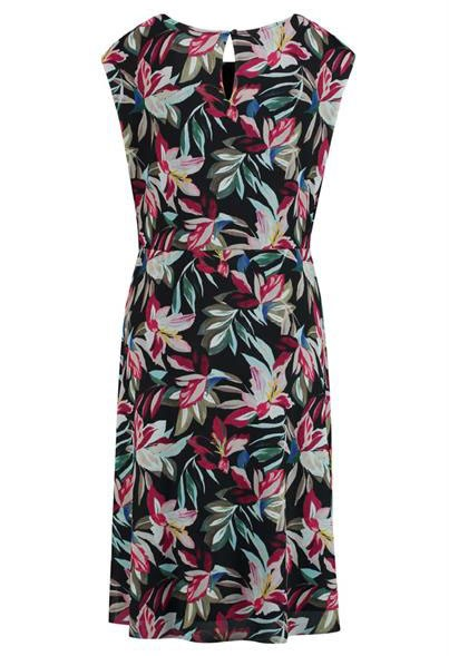 Gerry Weber Black dress with multi-color floral design