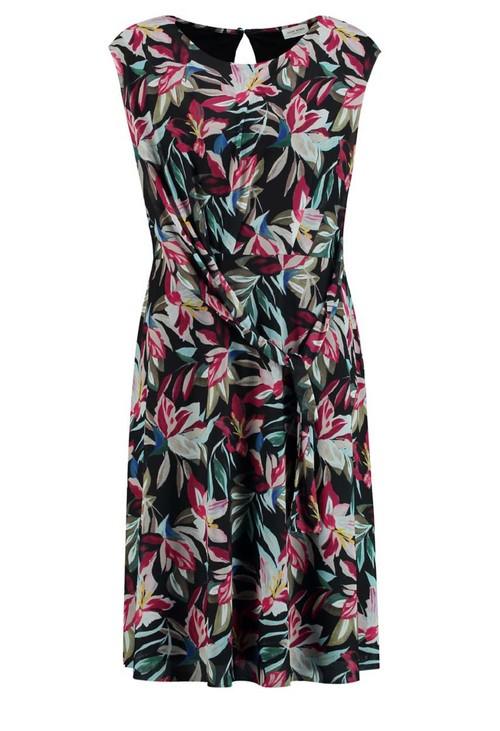Gerry Weber Black dress with multi-color floral design