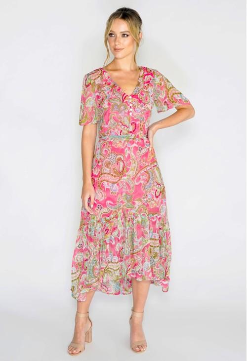 Pomodoro Romantic Paisley Dress