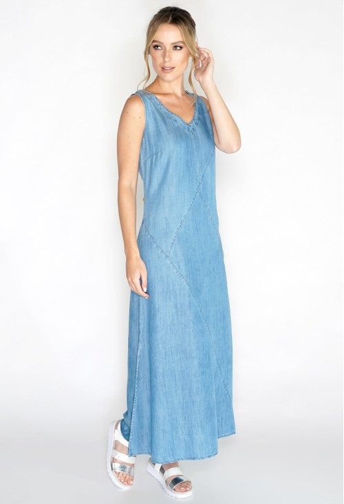 Pomodoro Lyocell Maxi Cutabout Dress