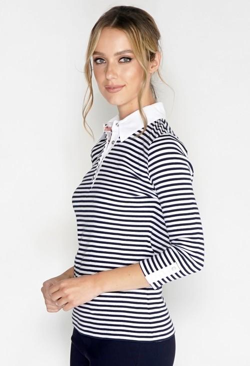 Pamela Femme Mini Stripe Polo Shirt