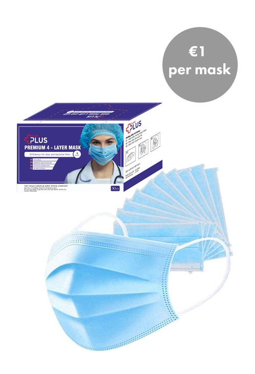 Lys DISPOSABLE FACE MASK WITH LOOPS - 50 PACK