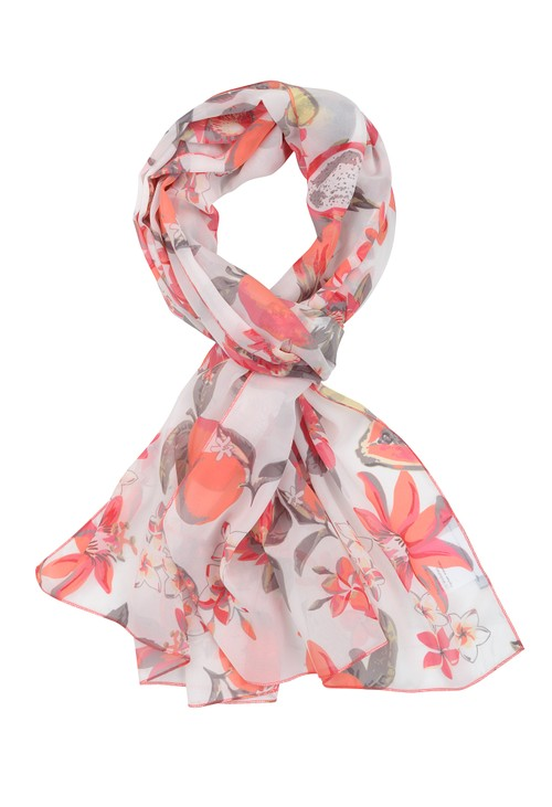 Frank Walder Málaga fashion scarf with summer print