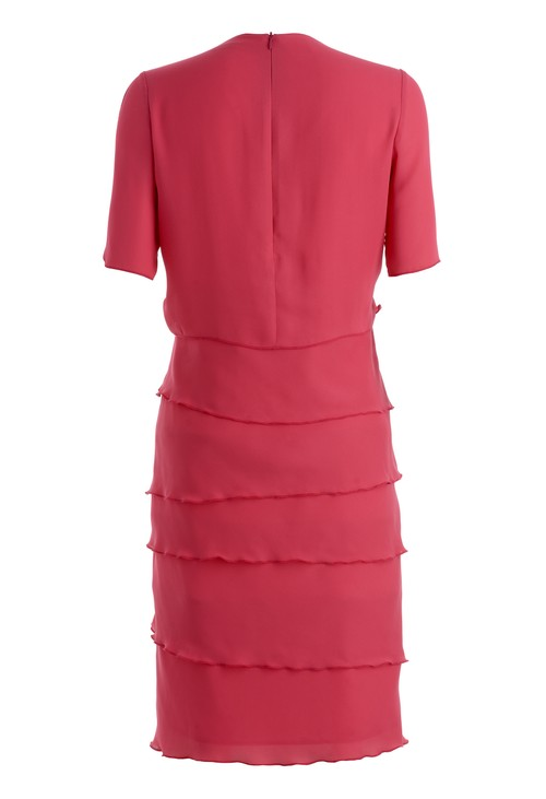 Frank Walder Chiffon dress with frills