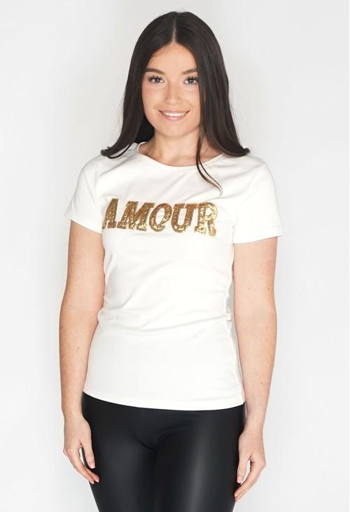 Pamela Scott Amour Sequin T Shirt