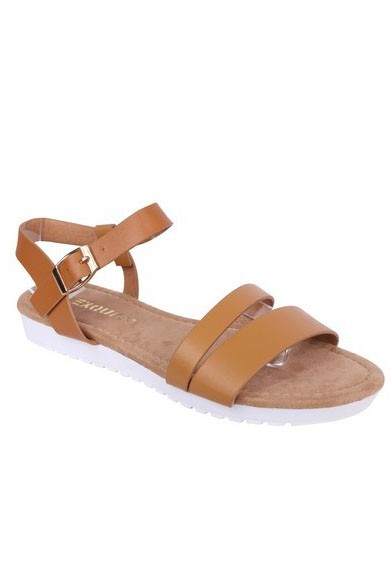 Shoe Lounge Lightweight Low Wedge Tan Sandal