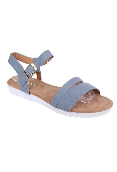 Shoe Lounge Lightweight Low Wedge Blue Sandal