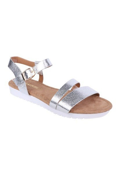 Shoe Lounge Lightweight Low Wedge Silver Sandal