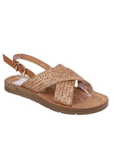 Pamela Scott Lightweight Low Wedge Taupe Sandal