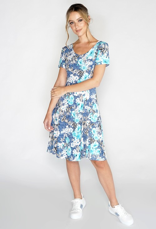 Pamela Scott Floral Swing Dress