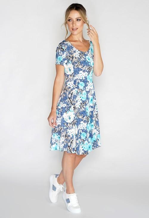 Pamela Scott Floral Swing Dress