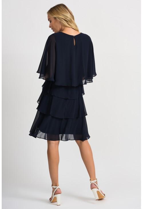 Joseph Ribkoff Sheer tiered dress