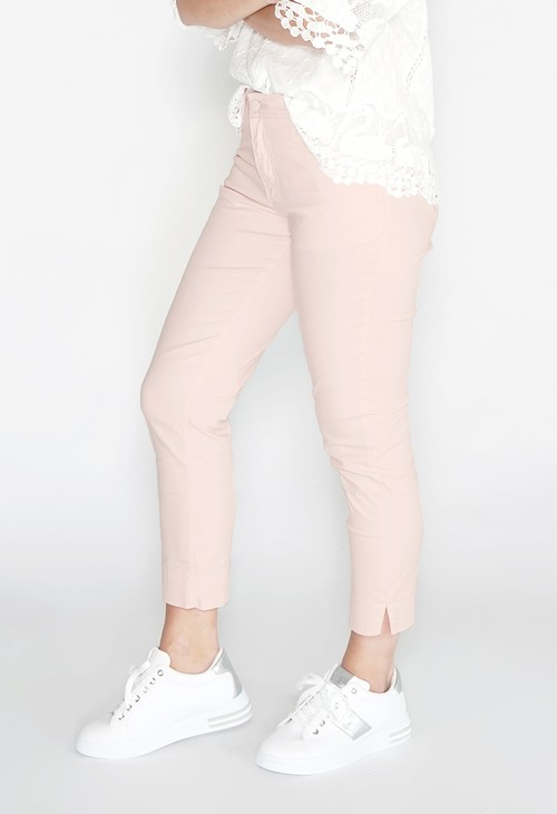 YOU YOU Light Pink Cropped Jean
