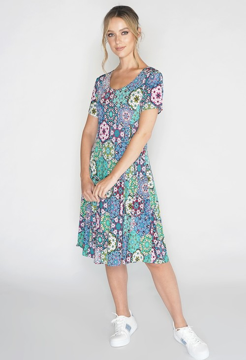 Pamela Scott Paisley Print Swing Dress