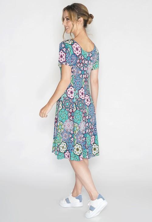 Pamela Scott Paisley Print Swing Dress