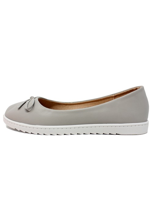 Shoe Lounge Soft Grey Lightweight Pull-on Pump
