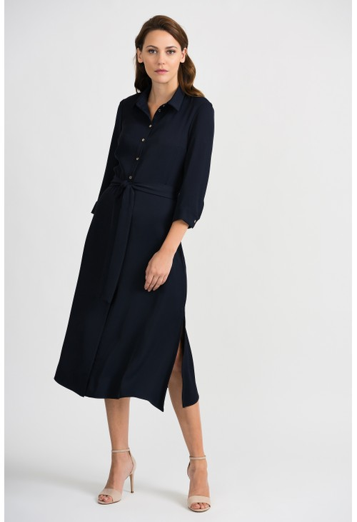 Joseph Ribkoff Navy Button Down Dress