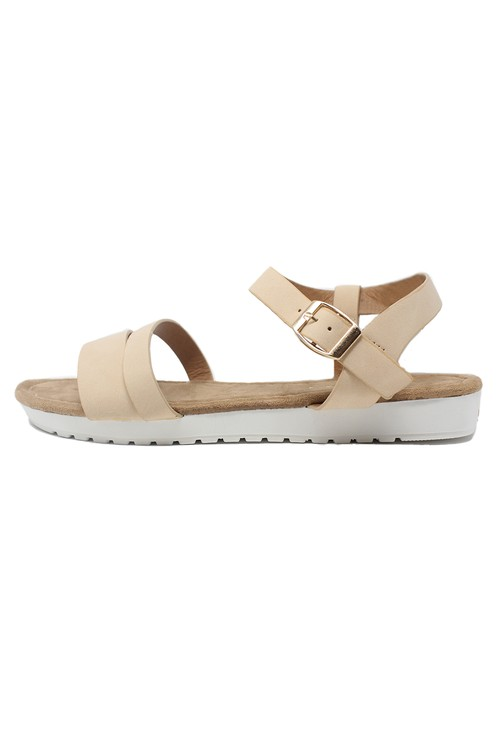 Pamela Scott Lightweight Low Wedge Beige sandal