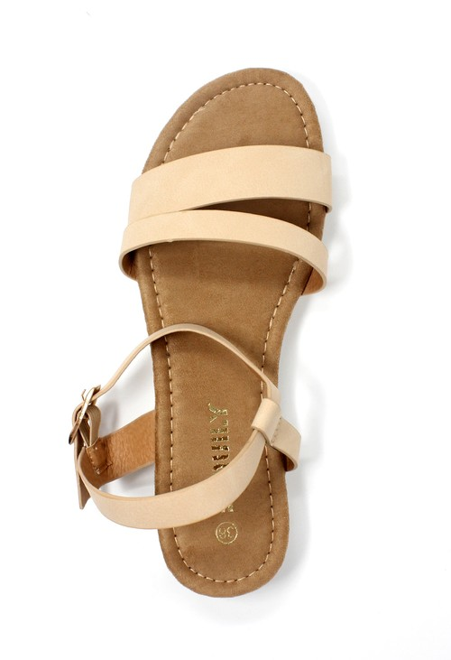 Shoe Lounge Lightweight Low Wedge Beige sandal