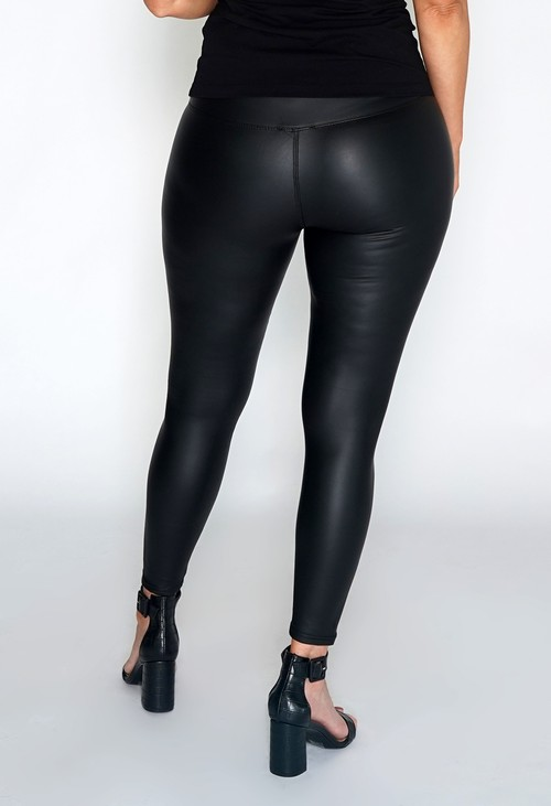 PS Leggings Black Faux Leather Leggings