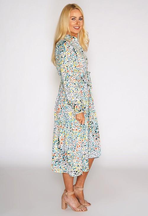 Pamela Scott Floral Midi Dress