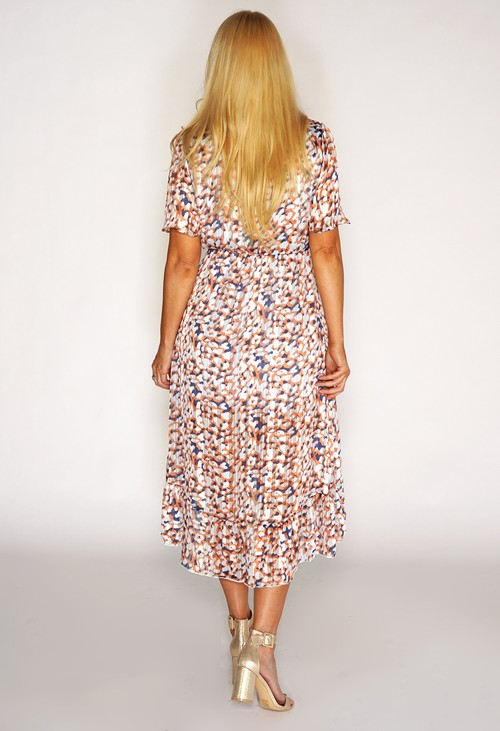 Pamela Scott Leopard High Low Dress