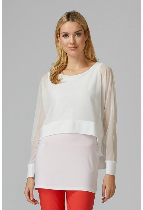 Joseph Ribkoff White Tunic Style Top