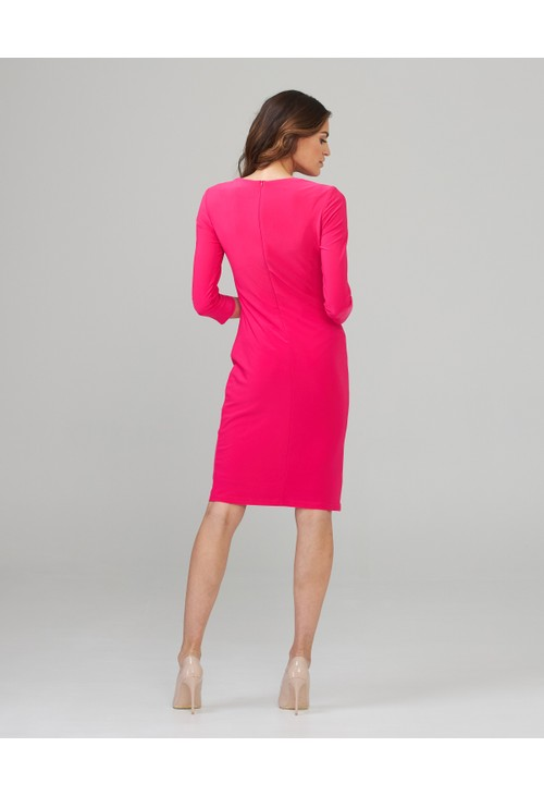 Joseph Ribkoff Pink Button Midi Dress