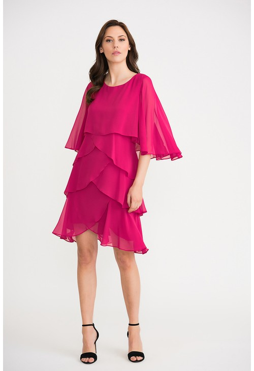 Joseph Ribkoff Tiered Ruffle Dress