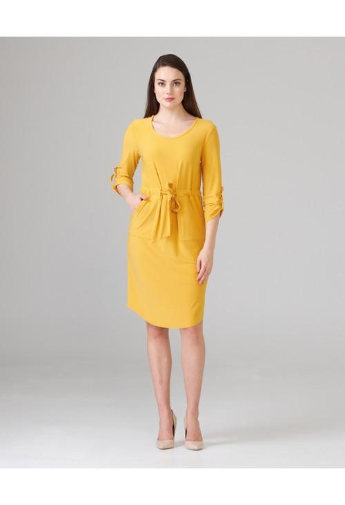 Joseph Ribkoff Golden Sun Tie Belt Dress