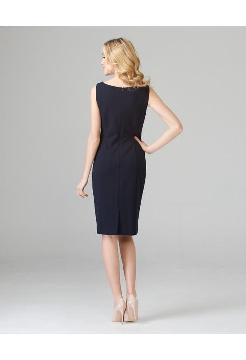 Joseph Ribkoff Navy Sleeveless Dress