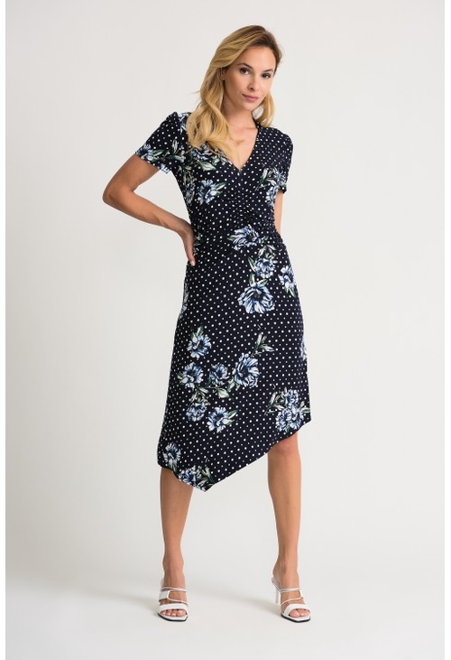 Joseph Ribkoff Floral Polka Dot Dress
