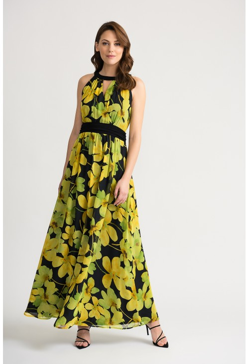 Joseph Ribkoff FULL LENGTH FLORAL DRESS