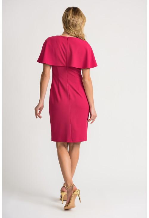 Joseph Ribkoff Pink Cape Dress