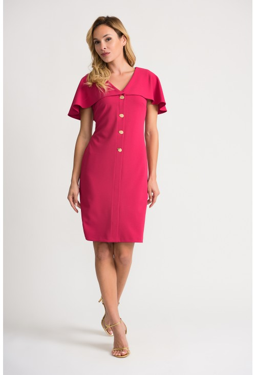 Joseph Ribkoff Pink Cape Dress