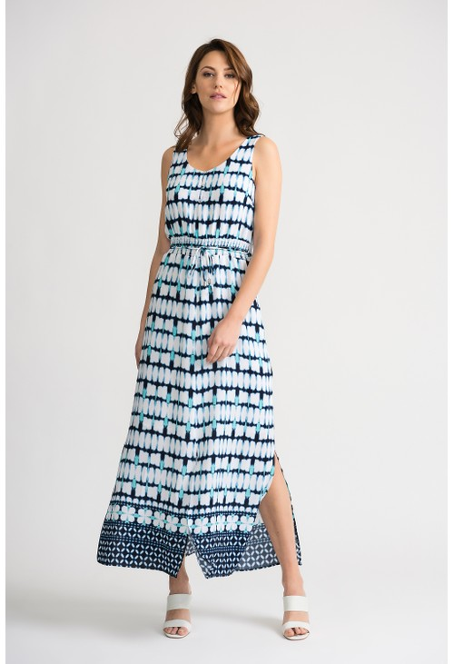 Joseph Ribkoff Full-length batik inspired dress