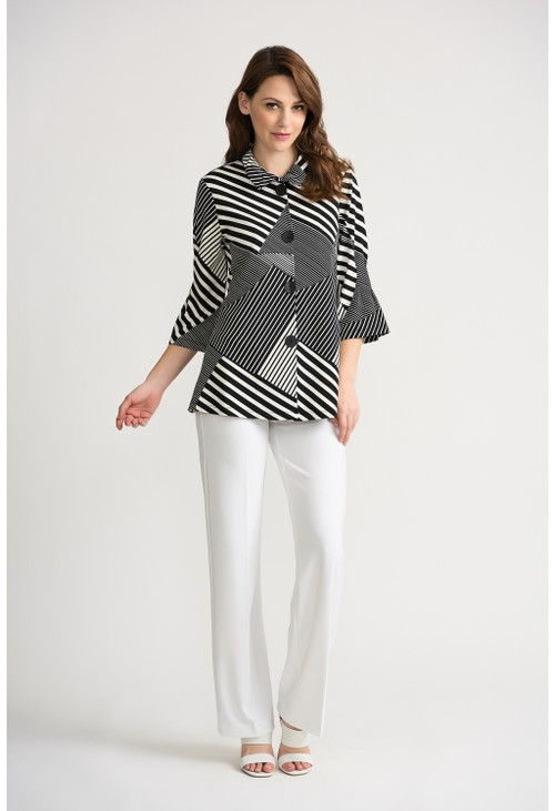 Joseph Ribkoff Striped Block Jacket