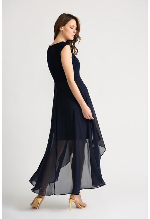Joseph Ribkoff Sleeveless Overlay Dress