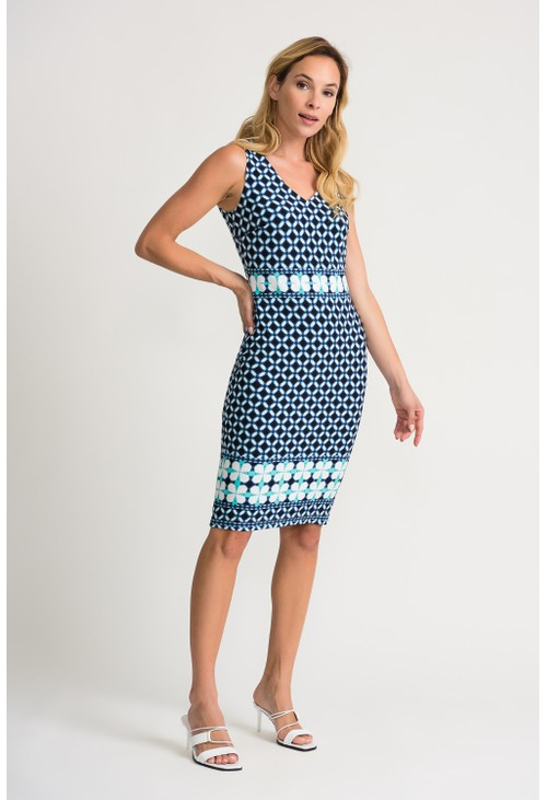 Joseph Ribkoff Geometric Pattern Dress