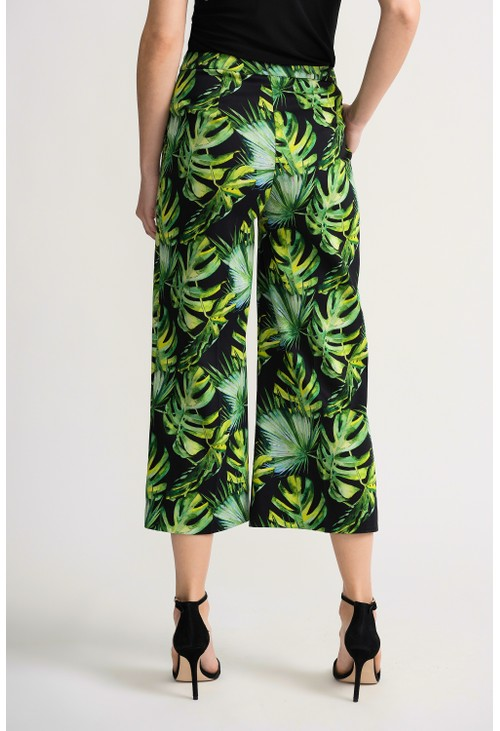 Joseph Ribkoff Cropped leaf patterned pant