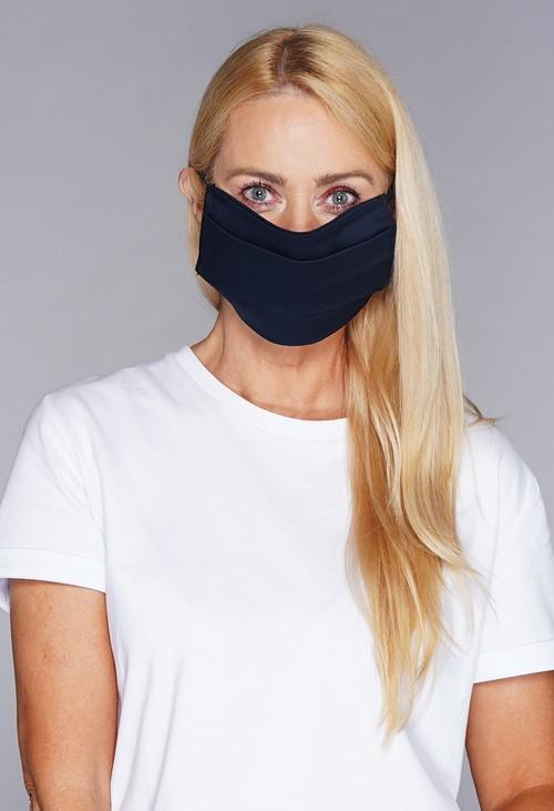 Lonkel plain textile mask navy