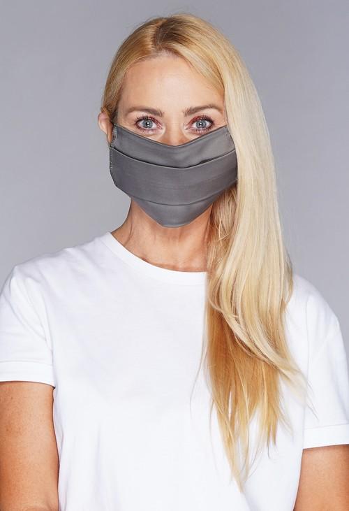 Lonkel plain textile mask grey